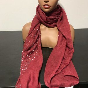 Lulla Collection by Bindya pearl embellished scarf